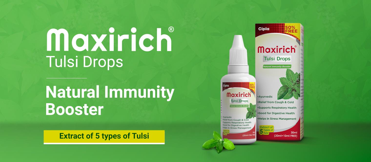 Maxirich Tulsi Drops - Natural Immunity Booster