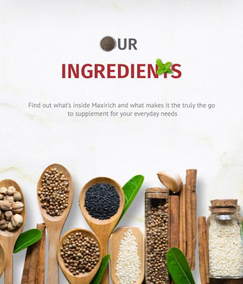 Maxirich Ingredients
